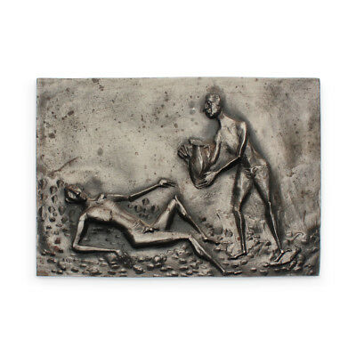 Thomae – 'Replenish The Thirsty' Cast Iron Brutalist Religious Wall Plaque 1970s