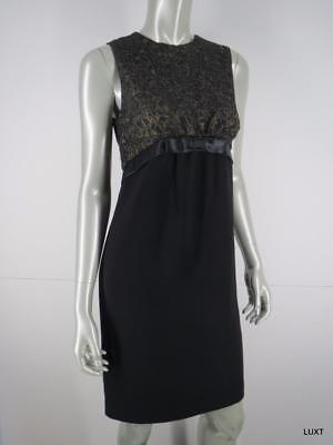 6302192cfe9b Michael Kors Dress Cocktail Party Evening Sz 4 S Black Gold Lace Sleeveless  Mini