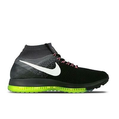 sports shoes 6a9d9 81cd3 Uomo Nike Zoom All Out Flyknit Nero Scarpe da Corsa 844134 002