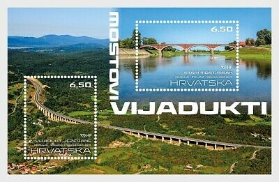 M01 Kroatien 2019 Bridges and Viaducts MNH  Postfrisch