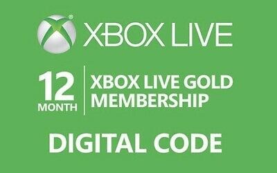 ⭐️ Instant Digital Code ⭐️ 12 Month Xbox Live Gold Ww Membership Xbox One 360 ⭐️