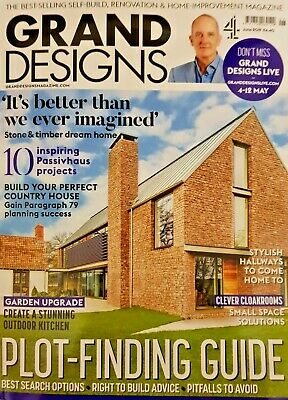 Grand Designs magazine JUNE 2019 #184 = PLOT FINDING GUIDE = STONE AND TIMBER