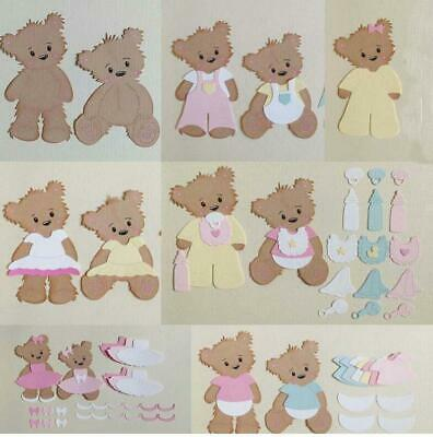 Cute Bear and Clothes Metal Cutting Dies Scrapbook Embossing Paper Card Crafts
