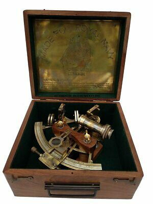 US HANDICRAFTS 8 Inch Maritime Antiques Marine Captain Sextant - Brass Nautica..
