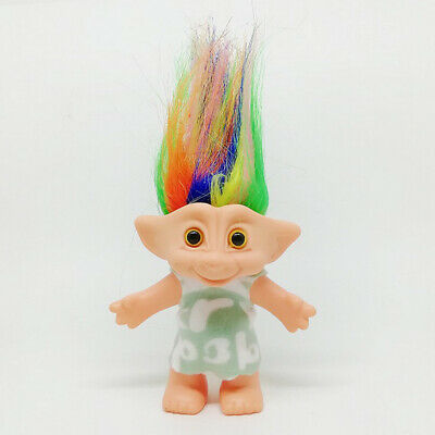 1PC Vintage Lucky Troll Doll Mini Figures Toy for Cake Toppers Party Favors