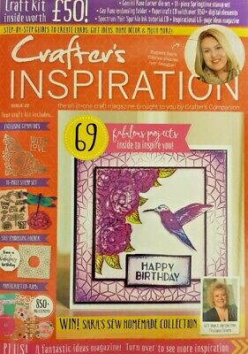 Crafter's Inspiration Magazine 2019 # 22 = 69 Projects =Free Craft Kit Worth £50