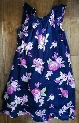 GIRLS BABY GAP BEAUTIFUL floral summer sun PARTY DRESS  AGE 4 - 5 YEARS NAVY