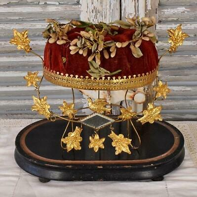 Gorgeous Timeworn Antique French Marriage / Wedding Stand With Couronne, 19th C