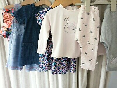 Little Baby Girls Summer/ Holiday Bundle Age 6-9 9-12 Tops Dress Swimming...