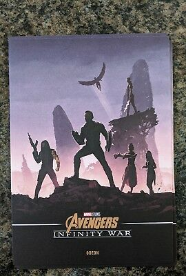 Marvel Avengers Infinity War Odeon Exclusive A4 Poster Captain America