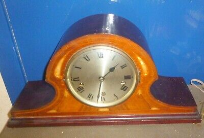 Large Antique Inlaid Westminster  Chiming Mantle Clock/clock