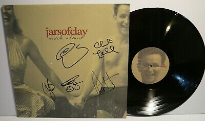 Rare Signed JARS OF CLAY - Afraid Much LP Vinyl ( Autographed, # 0088-1 )