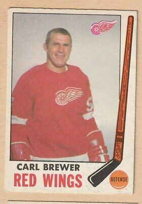 Hockey Card Nhl 1969-70 Carl Brewer  Detroit Red Wings Opc #59