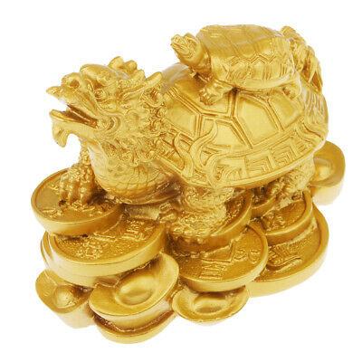 Lucky Dragon Tortoise Feng Shui Statue Bring Wealth & Success For Home Decor