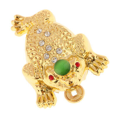 Feng Shui Money LUCKY Fortune Wealth Oriental Chinese Toad Decor Ornaments M