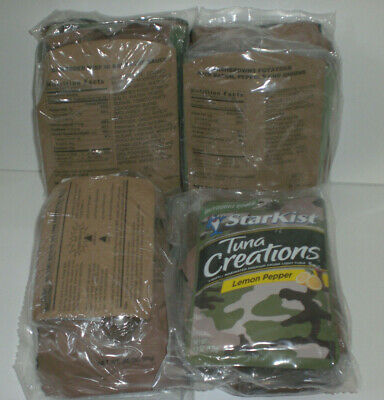 Military MRE Ready to Eat Survivial Prepper Ration Meal Lot of 4 Random Meals
