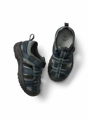 SZ 9 10 BABY GAP Navy Blue Basketweave SNEAKERS Boy Toddler New Play Shoes NWT