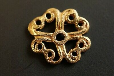Ancient Viking Solid GOLD Amulet. Pendant of Norse Eternity Loop, c 950-1000 AD.