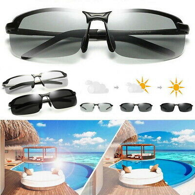 Photochromic Sunglasses UV400 Driving Polarized Transition Lens UVA & UVB Unisex