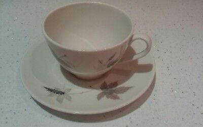 "Royal Doulton ""tumbling Leaves"" (Tc1004) Translucent China Cup And Saucer"