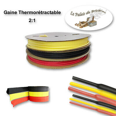 Gaine thermorétractable 2:1 (sans colle) -  Ø 1MM à 13MM de 0,5m à 10m