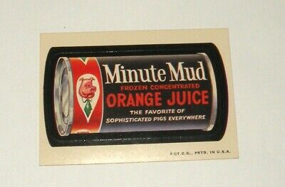 1970s  T.C.G.  WACKY PACKAGES  Card  Minute Mud Orange Juice lot094