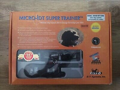 DT Systems Micro iDT electronic remote dog vibrating training collar Z3000
