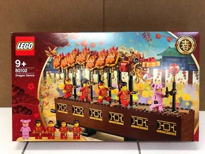 LEGO 80102 Dragon Dance 2019 ASIA EXCLUSIVE 622 Pieces Set Building Without Box