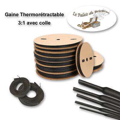 Gaine thermorétractable 3:1 (avec colle) -  Ø 2,4MM à 19,1MM de 0,5m à 10m
