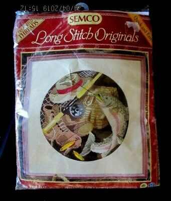 Semco Long Stitch Originals *FISHING COLLAGE * Kit No: 3300.3217-Open- Unworked
