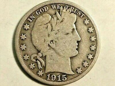 1915-S Barber Half Dollar - Very Good - Details