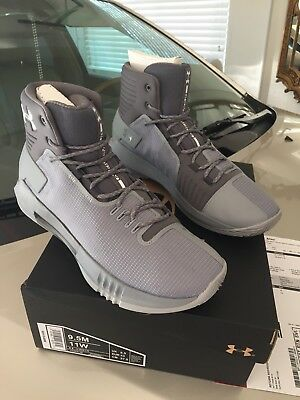 702f45d82a0c MENS UNDER ARMOUR UA Drive 4 TB Basketball Shoes Grey Gray White ...