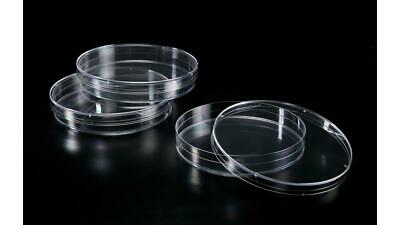 Extragene Petri Dishes, 90x15mm, beveled stacking rings, Sterile, Clear