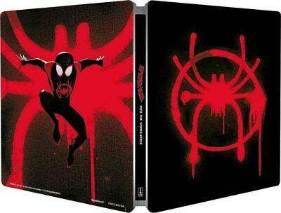 Spider-Man Into the Spider-Verse Ltd Ed Steelbook + Magnet [4K+ Blu-ray] New!!!
