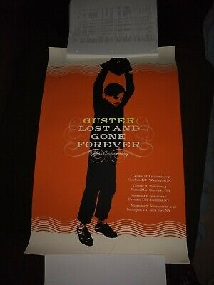 GUSTER CONCERT GIG POSTER print 2009 lost and gone forever anniversary tour #137
