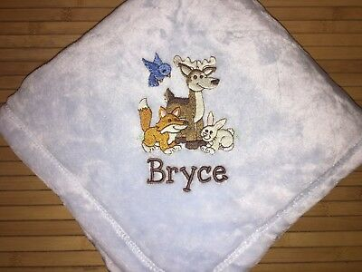 Leaves  camo forest Embrioded babytoddler fleece personalized blanket 45x30