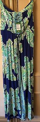 d9dcfc6e1438 Lilly Pulitzer Rosalina Maxi Dress Iris Blue Latitude Adjustment L NWT