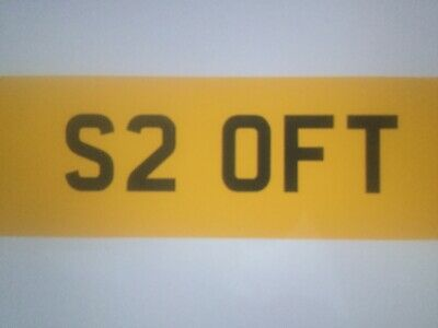 Private Registration Number Plate S2Oft