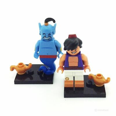Lego Disney Minifigure - Aladdin and Genie with Lamps (Set of 2)