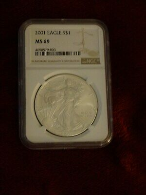 2001 Silver American Eagle MS69 NGC