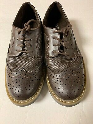 GUC Boys Kenneth Cole Reaction Brown Wing Tip Dress Shoes Size 2