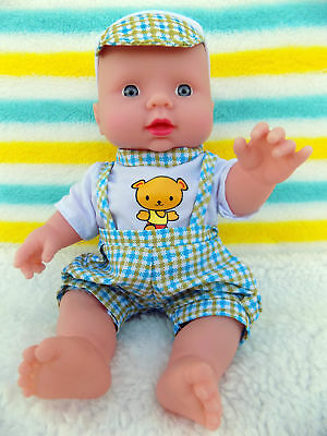 """Cute Baby Boy Doll 10"""" Inch Fruit Scented Blue Eyes 6 Sounds Talking Toy Gift"""