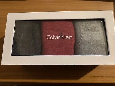 Genuine Calvin Klein Women's Socks Boxed Pack Of 3 Crew Socks NEW