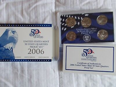 2006 US Mint 10 coin Proof Set including 50 State Quarters COA NV NE CO ND SD