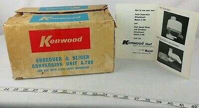 Vintage Kenwood Chef Attachment Shredder And Slicer Conversion Unit A799
