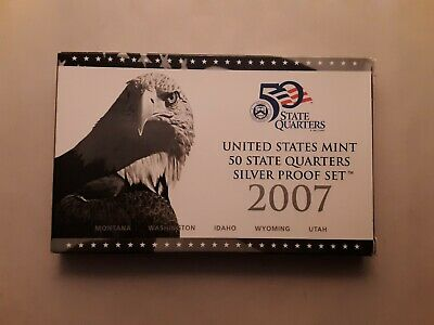 2007 United States Mint 50 State Quarters Silver Proof Set, with OGP