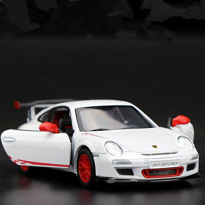 Porsche 911 GT3 RS Model Cars Toys 1:36 Collection&Gifts White New Alloy Diecast