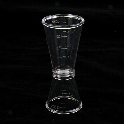 Clear Plastic Double Jigger Cocktail Shot Mixed Drinks Bartender 0-40cc 20cc