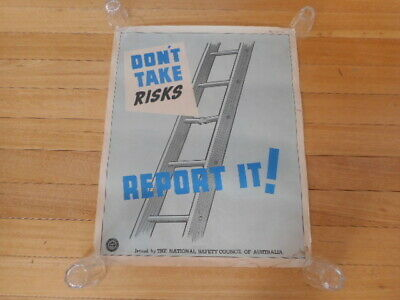 Vintage Retro Original Poster Art National Safety Council Australia Industrial