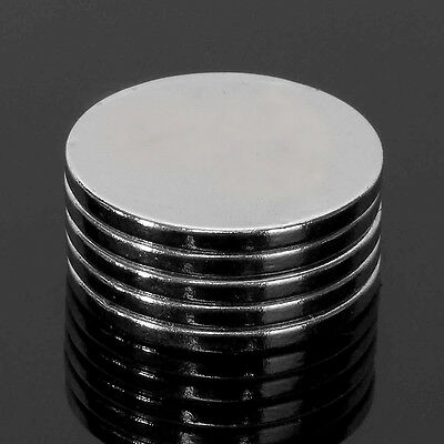 5x N50 Puissant Aimant Disque Rond Cylinder Neodymium Néodyme Magnetique 20x2mm